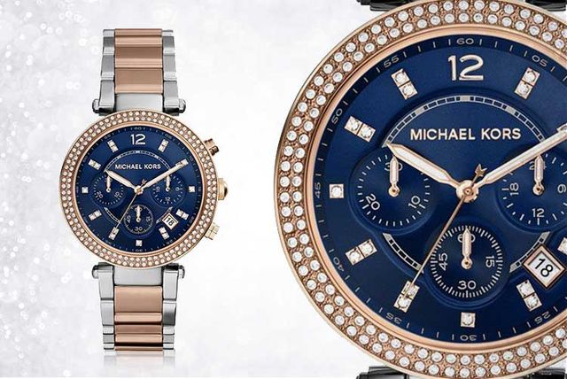 b1b7b1359537 Michael Kors MK6141 Two-Tone Ladies Chronograph Watch