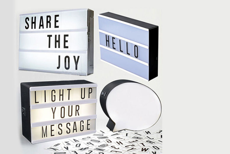 Image of From £6.99 for an LED message light box from Direct2Public Ltd - save up to 83%