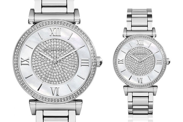 b41aea0bb448 €135 instead of €256.88 (from Ticara Watches) for a Michael Kors MK3355  ladies Caitlin watch - save 47%