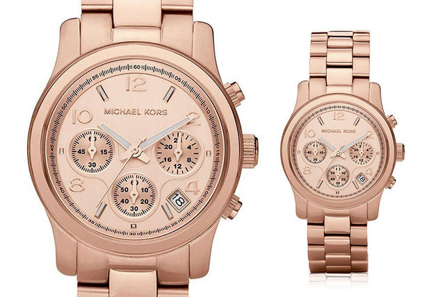 7face0759088 €119 instead of €253.76 (from Ticara Watches) for a Michael Kors MK5128 ladies  rose gold Runway chronograph watch - save 53%